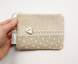 Peňaženky - Peňaženka/dokladovka - Čisté srdce ♥ - 10491248_