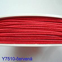 Galantéria - Šujtáš PEGA 3mm-1m (Y7510-červená) - 10493152_