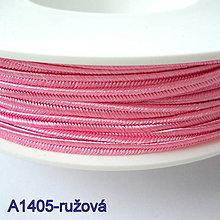 Galantéria - Šujtáš PEGA 3mm-1m (A1405-ružová) - 10493340_