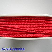Galantéria - Šujtáš PEGA 3mm-1m (A7501-červená) - 10493353_