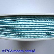 Galantéria - Šujtáš PEGA 3mm-1m (A1703-modrá detská) - 10493360_