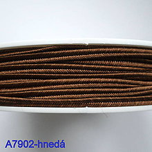 Galantéria - Šujtáš PEGA 3mm-1m (A7902-hnedá) - 10493363_