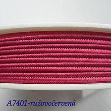 Galantéria - Šujtáš PEGA 3mm-1m (A7401-ružovočervená) - 10493378_