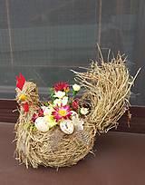 """Dekorácie - veľkonočná dekorácia """"sliepočka"""" - 10490983_"""