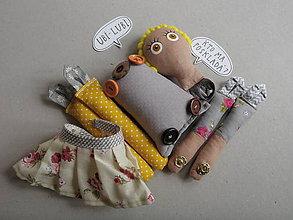 Hračky - Gombíková bábika snivá Majka - 10493403_