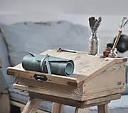 Papiernictvo - kožený rolovací peračník MAX - 10492421_