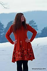 Šaty - Dámske šaty šité, batikované, maľované  TERRA-COTTA - 10492544_