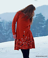 Šaty - Dámske šaty šité, batikované, maľované  TERRA-COTTA - 10492552_