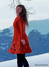 Šaty - Dámske šaty šité, batikované, maľované  TERRA-COTTA - 10492600_