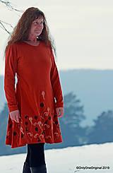 Šaty - Dámske šaty šité, batikované, maľované  TERRA-COTTA - 10492616_