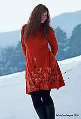 Šaty - Dámske šaty šité, batikované, maľované  TERRA-COTTA - 10492646_