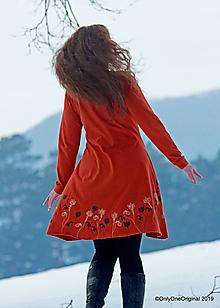 Šaty - Dámske šaty šité, batikované, maľované  TERRA-COTTA - 10492554_