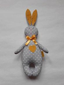 Hračky - Zajac - hračka - žltá - 10492550_