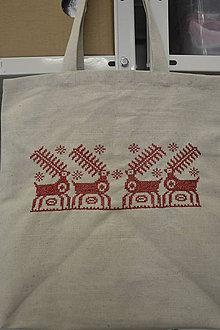 Iné tašky - Plátená taška s ručnou výšivkou - 10490591_