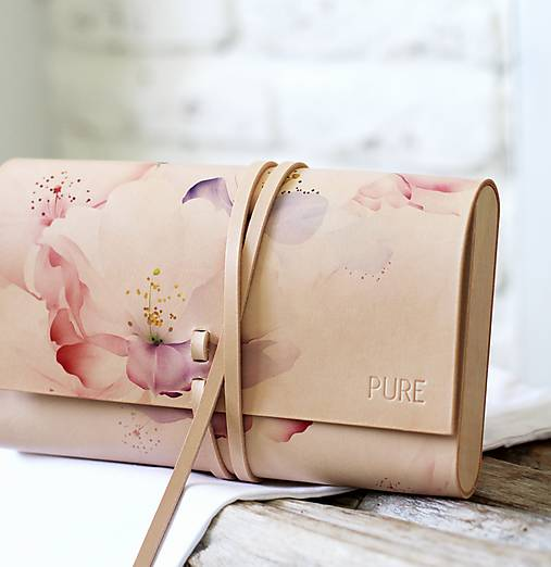 Kabelky - Listová kabelka ROSE CLUTCH SLIM - 10490761_