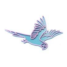 Odznaky/Brošne - Papagáj turqouise blue/violet - 10492134_