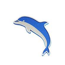 Odznaky/Brošne - Delfín nobble blue/silver - 10492331_