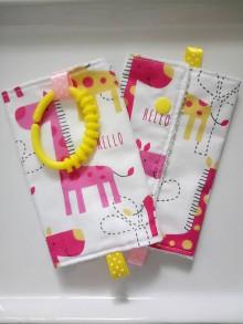 Detské doplnky - Ochranné návleky slintáčiky na popruhy na ergonosič žirafky - 10491565_