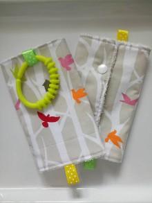 Detské doplnky - Ochranné návleky slintáčiky na popruhy na ergonosič vtáčiky - 10491613_