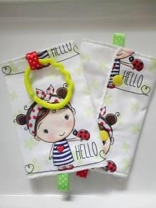 Detské doplnky - Ochranné návleky slintáčiky na popruhy na ergonosič dievčatko - 10491625_