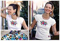 Tričká - Tričko + náušnice Fairy - 10491208_