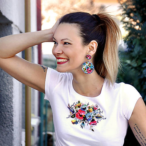 Tričko + náušnice Fairy