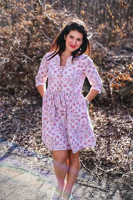 9449d5be7 Šaty ME TOO - romantic pink / Donee - SAShE.sk - Handmade Šaty