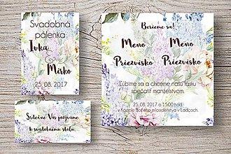 Nezaradené - Svadobné oznámenie Lila kvety - 10493224_