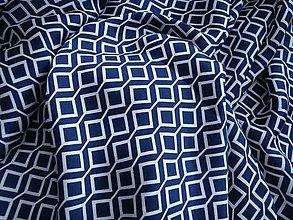 Textil - Šatovka modrobílá - (10cm) - 10493521_