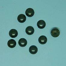 Iný materiál - Našívacie kamienky  kruhové bronzové 13mm - 10491826_