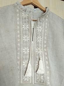 Košele - Pánska košeľa prírodná - 10491245_