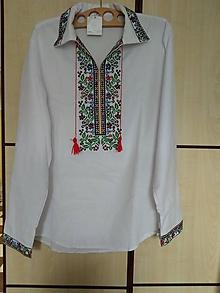 Košele - Pánska košeľa Floralna - 10491522_