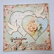 Papiernictvo - Svadobná pohľadnica - 10492406_