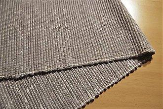 Úžitkový textil - Tkaný koberec sivý - 10490896_