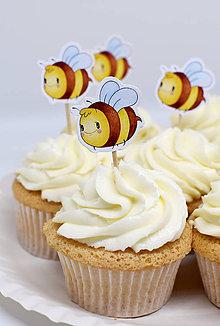 Dekorácie - Zápich včielka - 10496726_