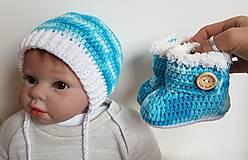Detské súpravy - Modrý setík - 10496647_