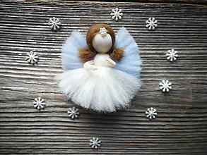 Dekorácie - Mini anjelik na stromček na želanie - 10495674_
