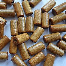 Korálky - Drevený valček 12x5mm-10g - 10495907_