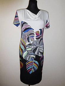 Šaty - S velkými listy - 10494336_