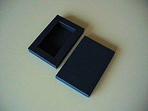 Krabičky - krabička na Usb/ dark blue - 10495537_
