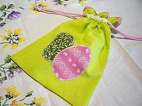 Úžitkový textil - Veľkonočné vrecko - zelené - 10494272_