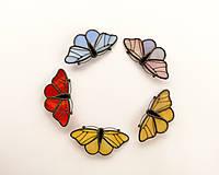Odznaky/Brošne - Motýlia brošňa (Modrá) - 10494584_