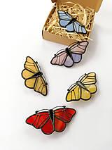 Odznaky/Brošne - Motýlia brošňa (Modrá) - 10494585_