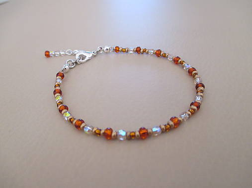 Tenký náramok - zlato-oranžový   AOLEON - SAShE.sk - Handmade Náramky 48c1e1cf4ce