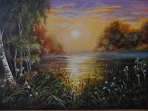 Obrazy - Ticho tečie rieka - 10494162_
