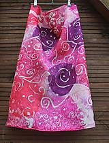 silk scarf_hodvábna šatka_pink_do ružova