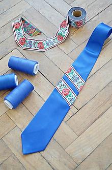 Doplnky - Pánska kravata s folklórnym motívom - 10496494_