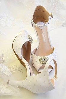 Obuv - Svadobné sandále - 10495008_