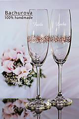 - Svadobné poháre (Pieskovaná mená a dátum sobáša) - 10495684_