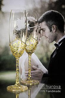 Nádoby - Svadobné poháre - 10494822_